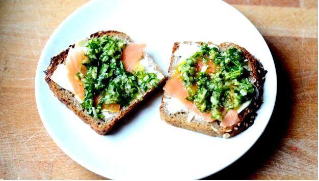 Мой способ бутербродов с копченым лососем