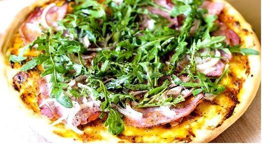 Пицца со свежей рукколой