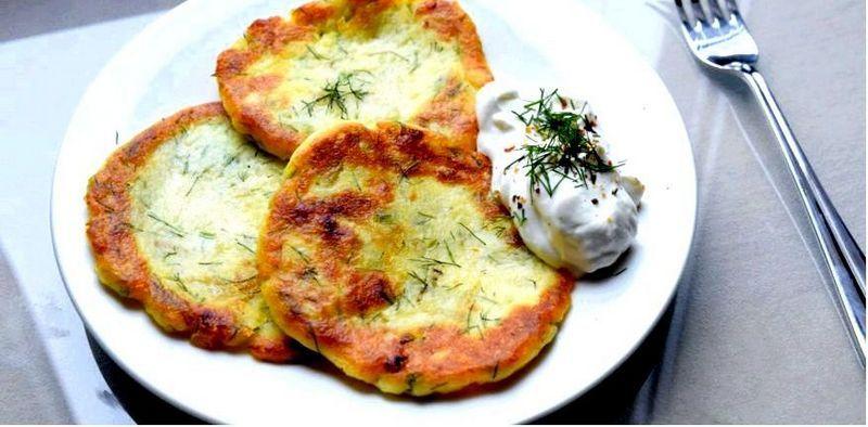Картофельные оладьи из отварного картофеля