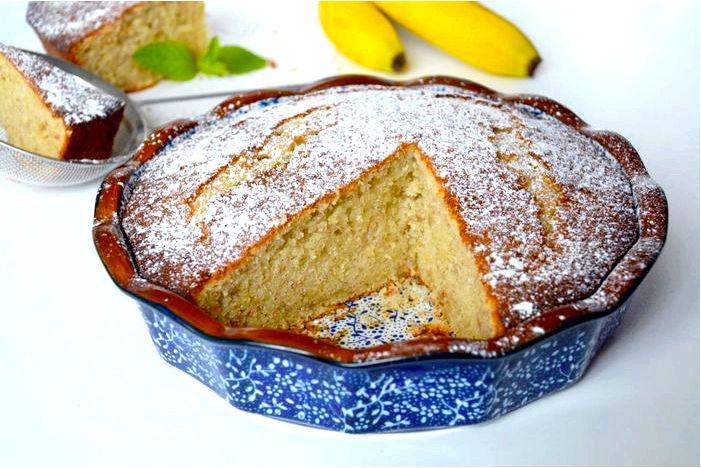 Мраморный банановый торт