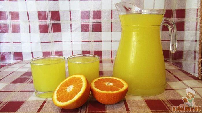 Домашний апельсиновый кисель