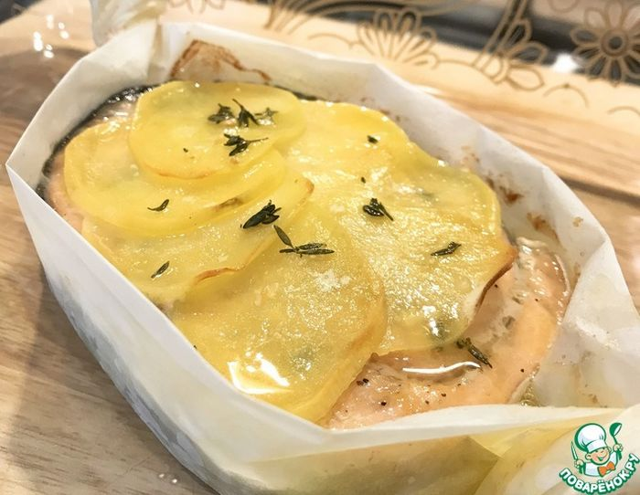 Форель с картофелем из духовки