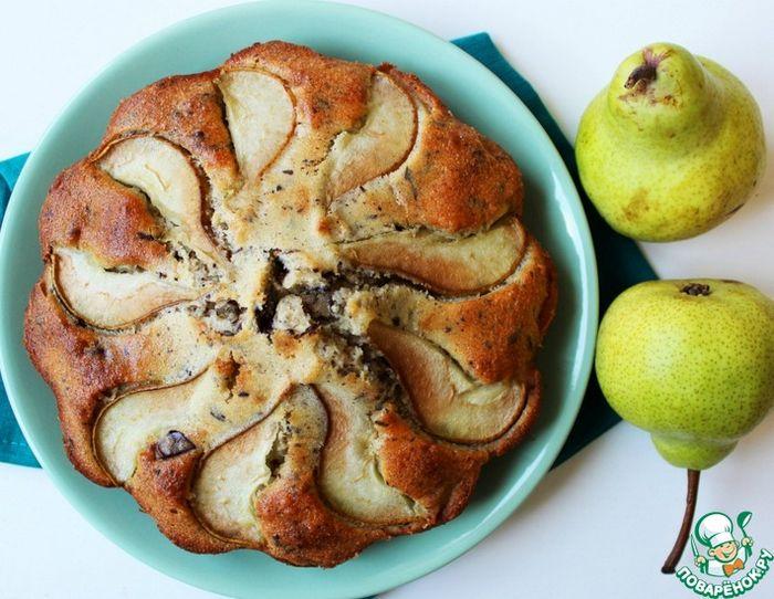 Грушевый пирог с имбирем