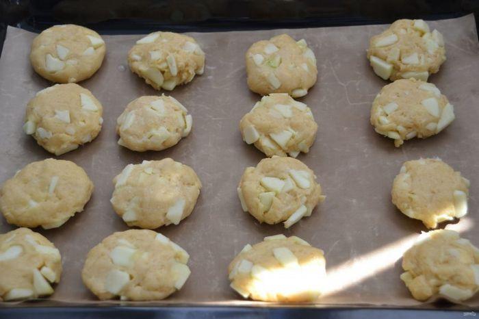 Яблочное печенье с чизкейком