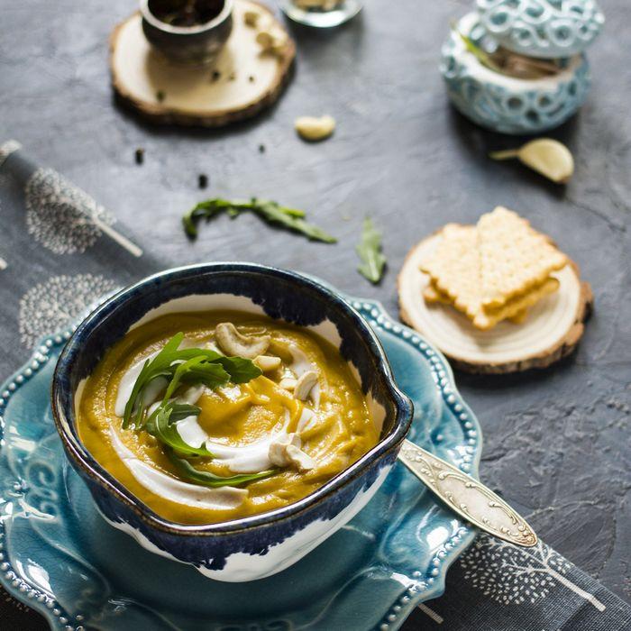 Крем для супа из брокколи и гороха с кокосовым молоком