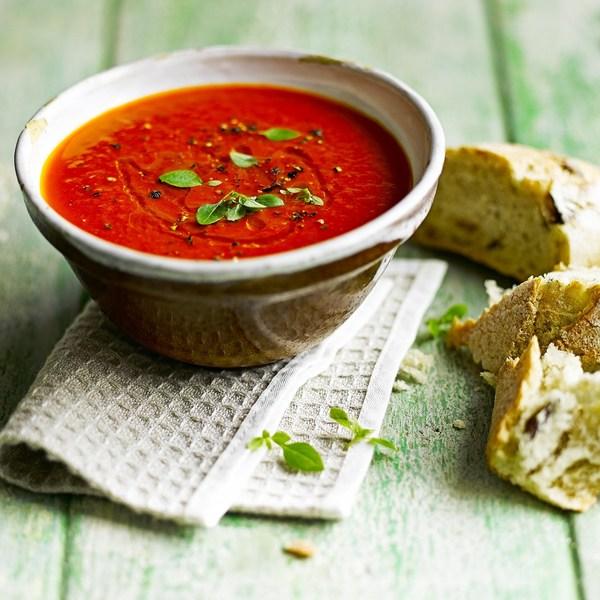 Крем-суп из жареного перца