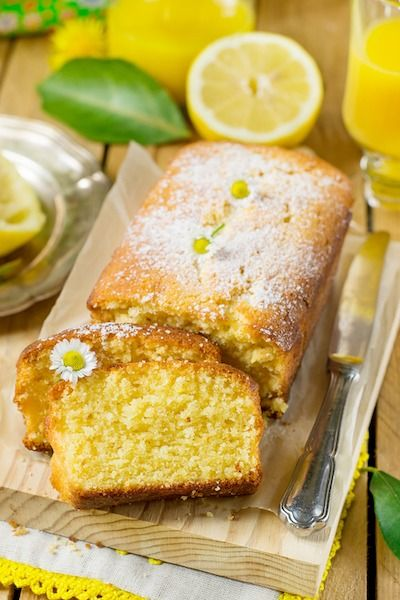 Лимонный черничный пирог