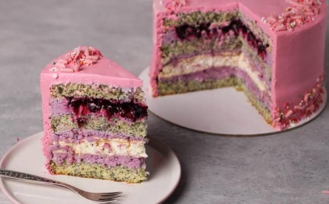 Маковый торт с безе