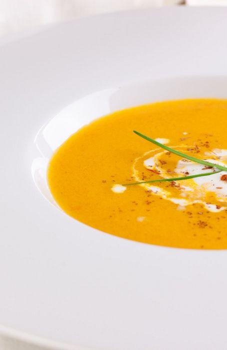 Морковный суп с кокосовым молоком