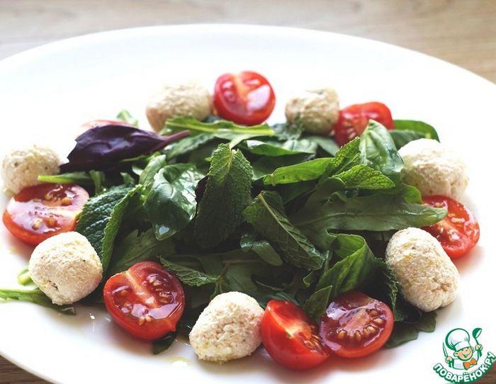 Освежающий салат с фасолью и мятой