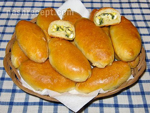 Печеные вареники с капустой и грибами