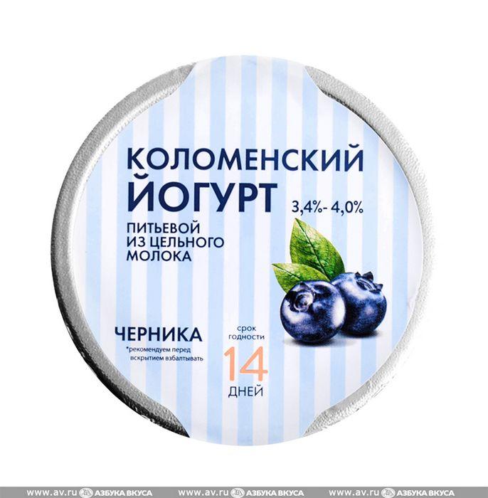 Питье питательного шоколада с черникой и натуральным йогуртом