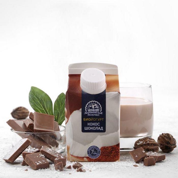 Питьевой йогурт шоколад