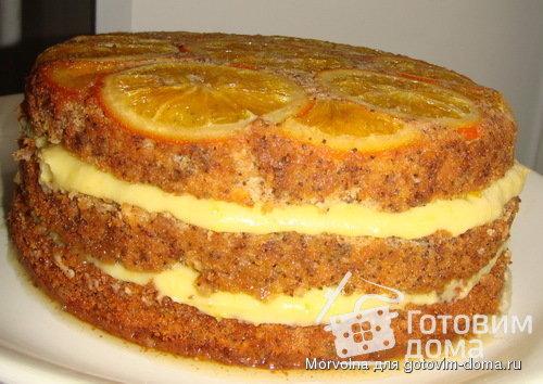 Приготовленный апельсиновый торт