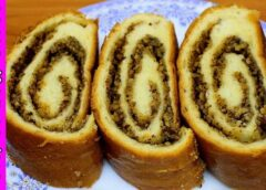 Рулет (венок) из грецких орехов