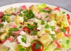 Салат из сельди на пумперникеле