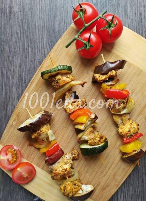 Шампуры с курицей и овощами в ажваре