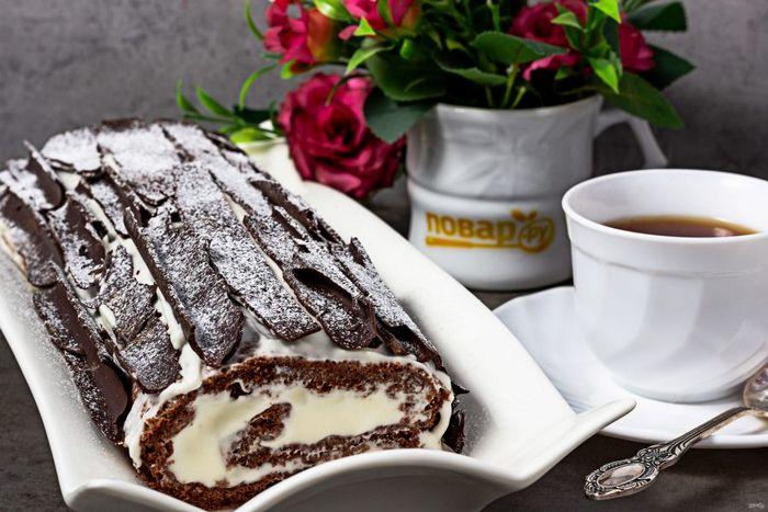 Шоколадная струкла - дрожжевой пирог с шоколадом