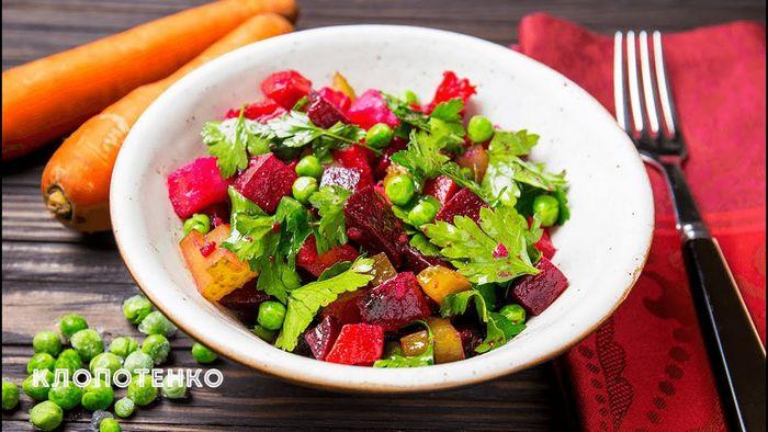 Стейк с запеченными овощами