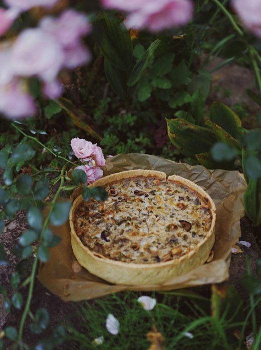 Тарт из цуккини и лука-порея (киш)