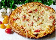 Рецепт приготовления куриной пиццы с жёлтыми помидорами
